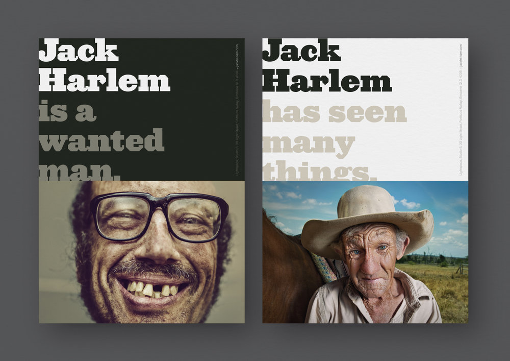 Jack Harlem –  Full brand identity developed for Prospect Studios in Brisbane.