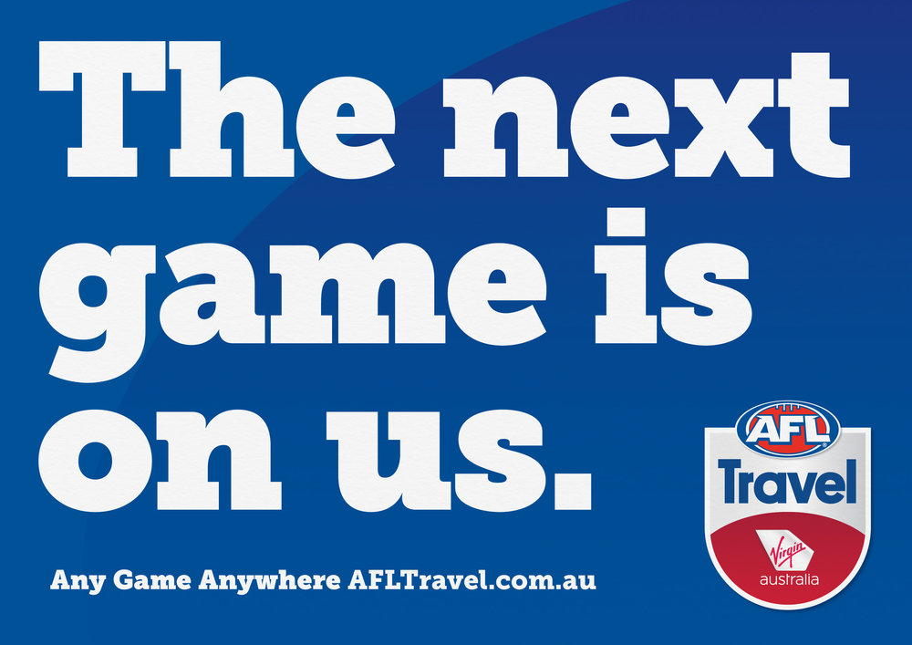 Virgin Australia & AFL –  We were commissioned by Virgin Australia to develop a name and new identity for what would become AFL Travel - an online portal for all travelling AFL fans.