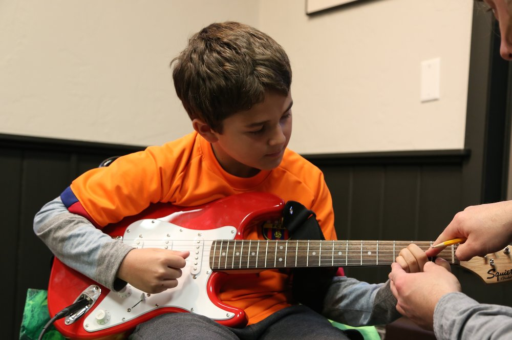 A STAR IS BORN - For younger students, age 5-6, the Music Asylum offers a 45 minute group lesson once a week for kids to garner an appreciation for music and their chosen instruments. Starting music education at a young age has been said to accelerate brain development, and helps students develop skills in critical thinking, organization, time-management and focus. This class is a perfect way to give young rock stars a taste of what music has to offer. Classes are formed depending on type of instrument and demand.