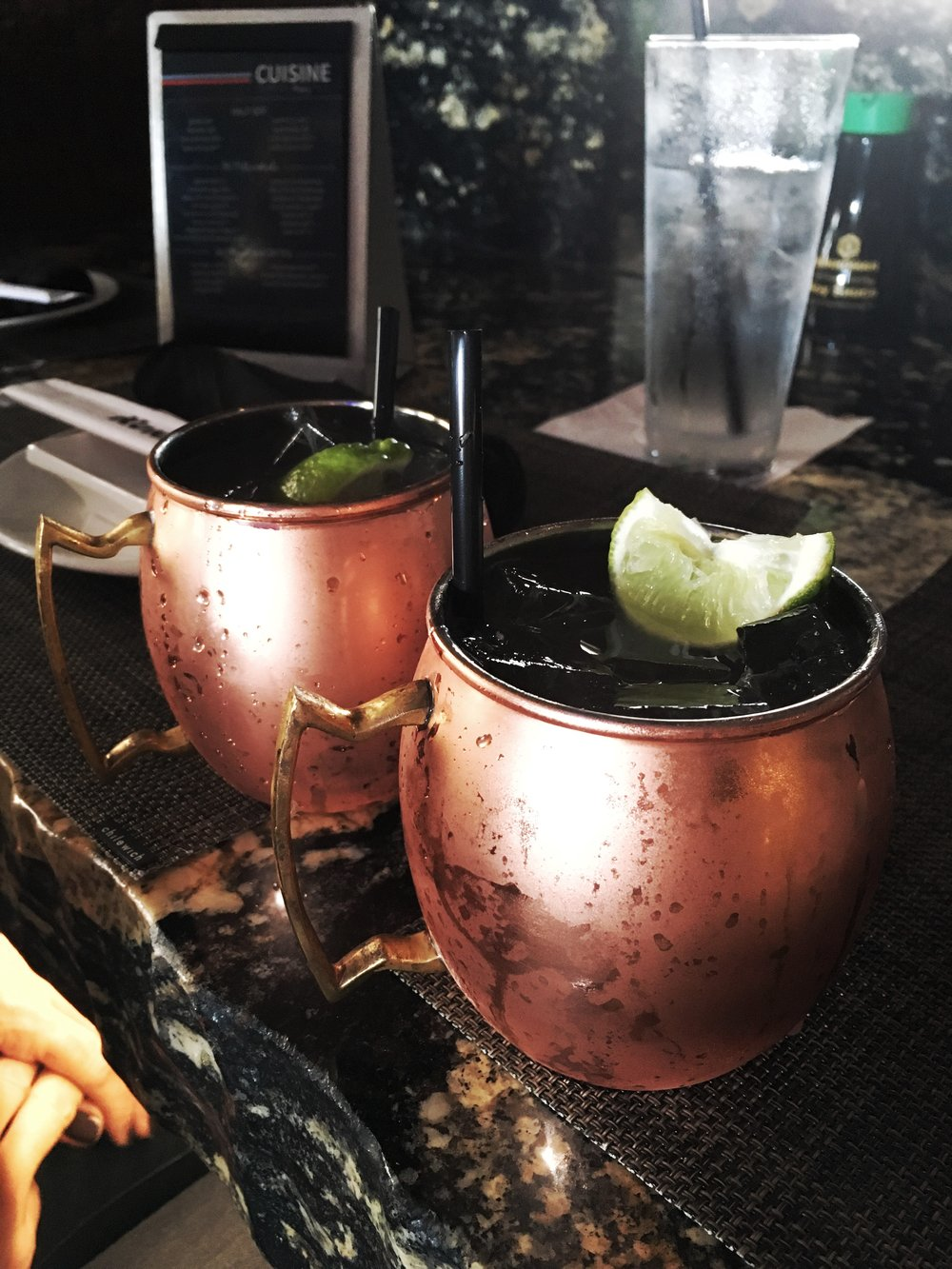 Moscow Mules at Kona Grill, yum!