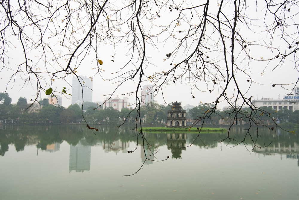 Hoan Kiem lake...