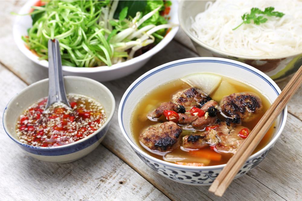 Grilled pork noodle...