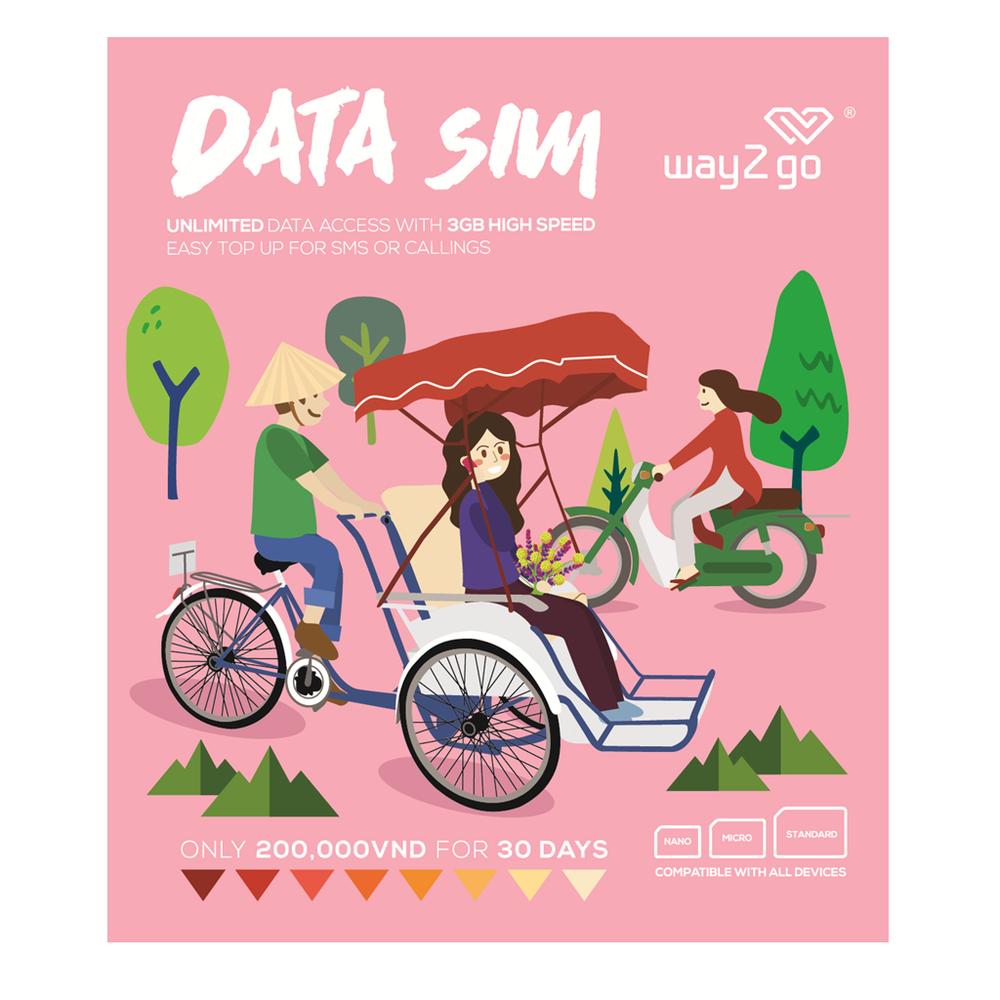 Way2go Data Sim   (latest version 2017)