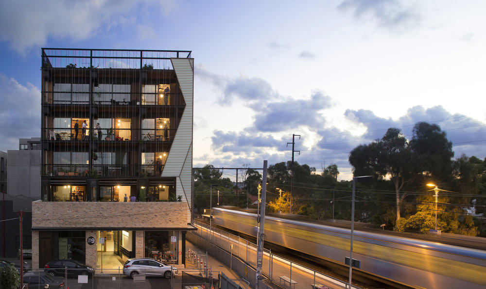 The Commons in Brunswick, Melbourne, by Breathe Architecture. Photography by Andrew Wuttke.