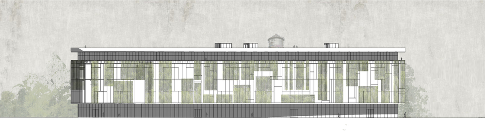 elevation of north site live/work building