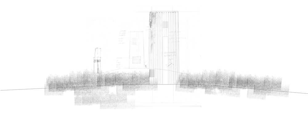 Elevation of Observation Tower | Sketch + Montage