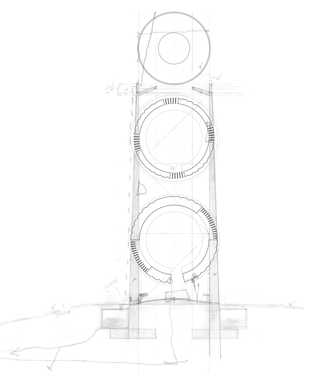 Section through Observation Tower
