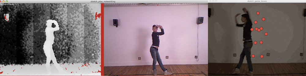 Using the kinect to save the position of the dancer's junctions