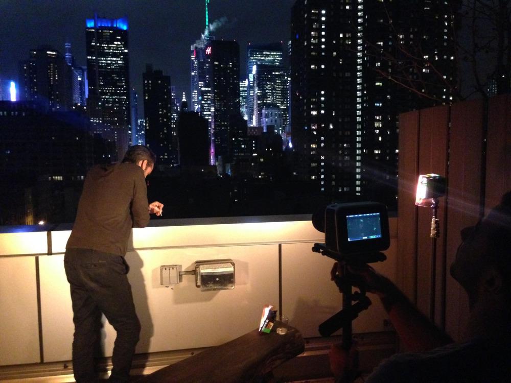 Shooting Jonathan for the final movie