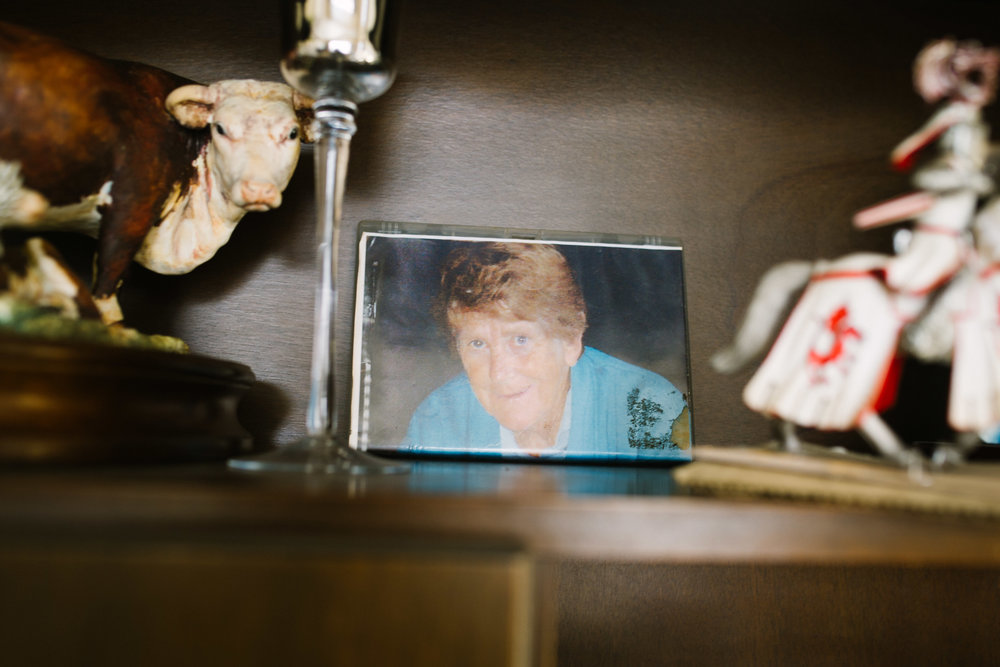 April 27 2017  A framed photo of my Nana sits in her brother's home amongst knickknacks in Martin, New Zealand.  Having never met my Nana in person, I only ever knew the stories of her from my father, and the short, poorly-connected skype chats we attempted to have in my elementary years. After her death, the family began to disconnect from each other. Fortunately, while visiting New Zealand, I was able to meet all of my Nana's brothers who remained alive.