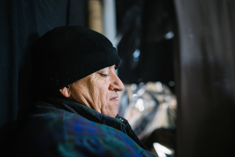 December 24 2017.  My father sitting next to me in his shed in Peterborough, Canada talking about the past few weeks and months in which he has struggled with his mental health and day-to-day life. My younger brother sat across from us listening.