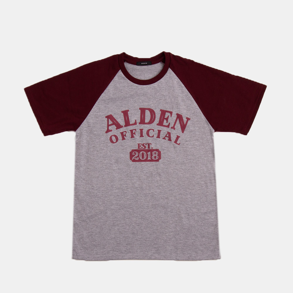 ALDEN OFFICIAL   Fabric used: Essential Blend  Custom Application: 2 Color Silk Screen Print