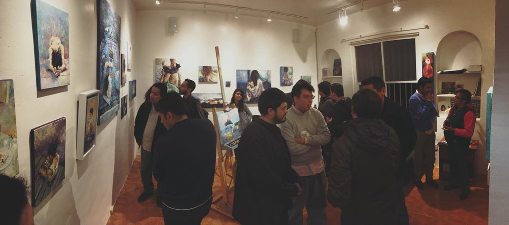 OPEN STUDIO, Andrea Juárez Art 2016.