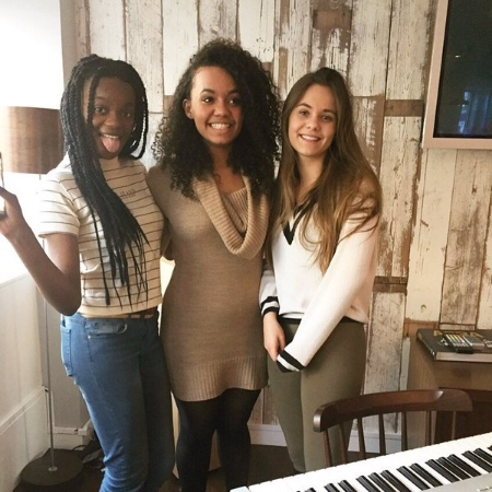 Lily, Naomi and Natalie at working Universal Music Publishing