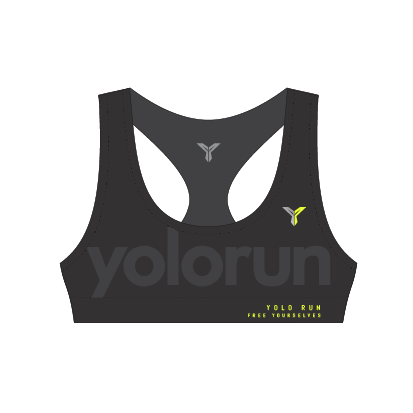 YOLO Run Sports Bra (Front)