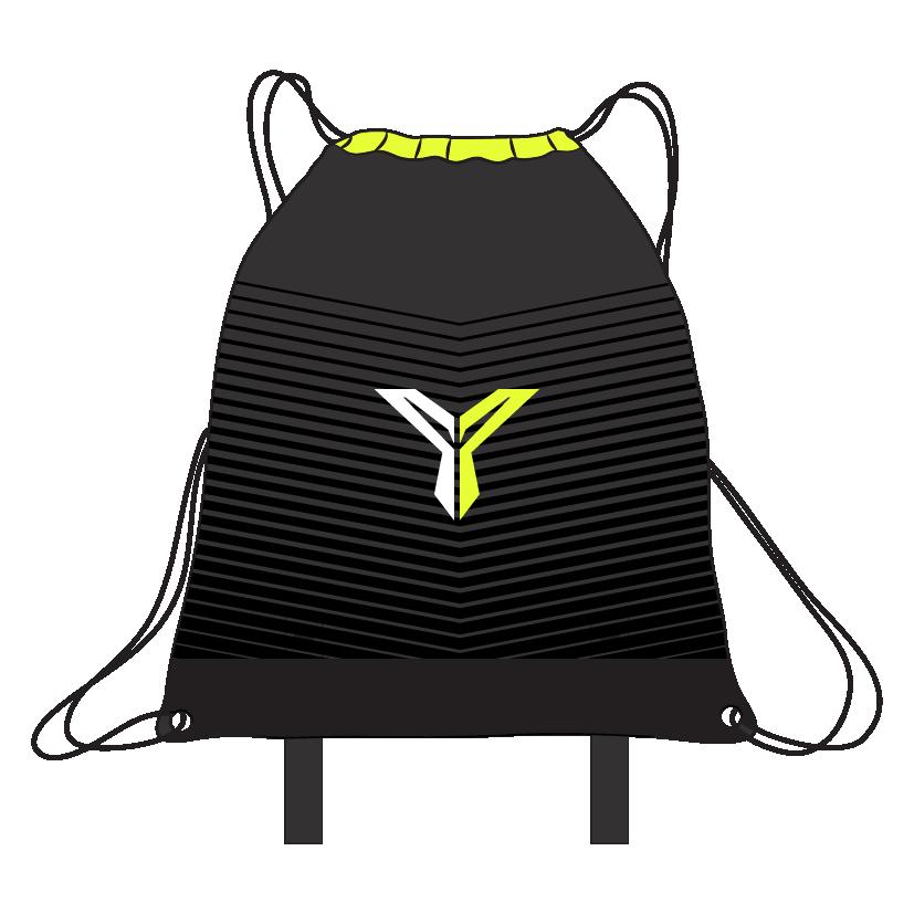 Drawstring Yoga Bag (Back)