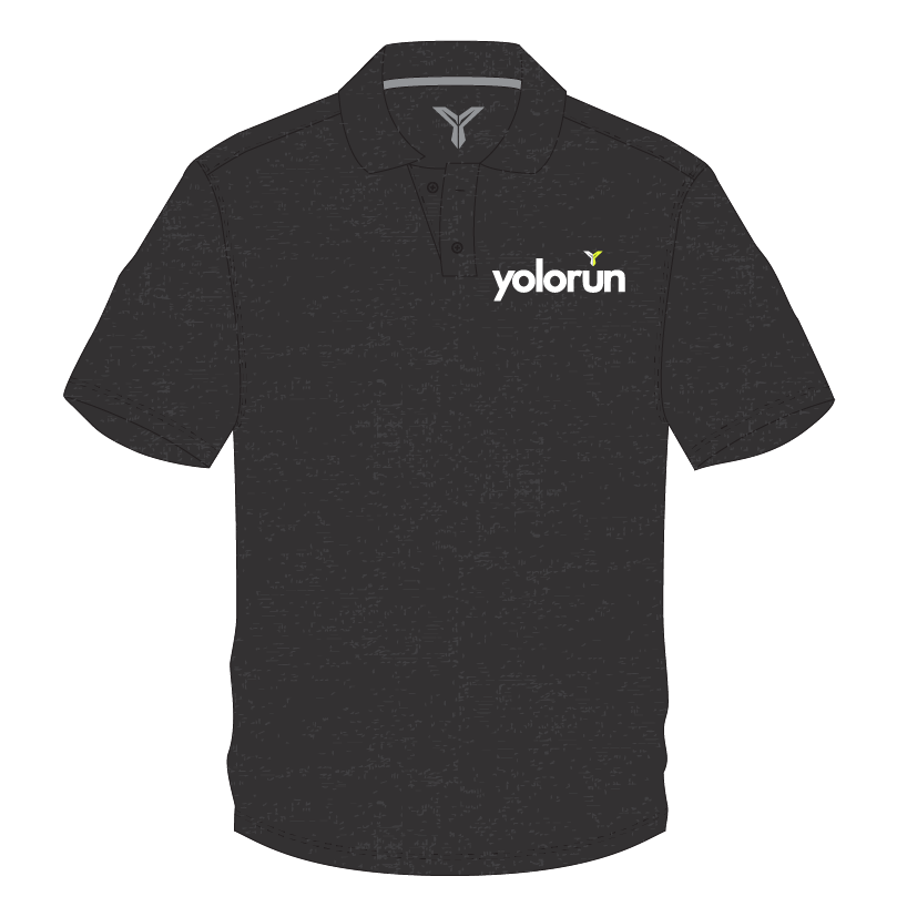 YOLO Run 21KM Polo Tee (Front)
