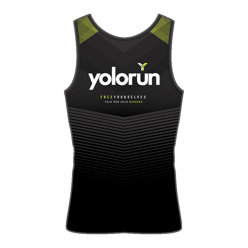 เสื้อกล้าม YOLO Run (ด้านหลัง)