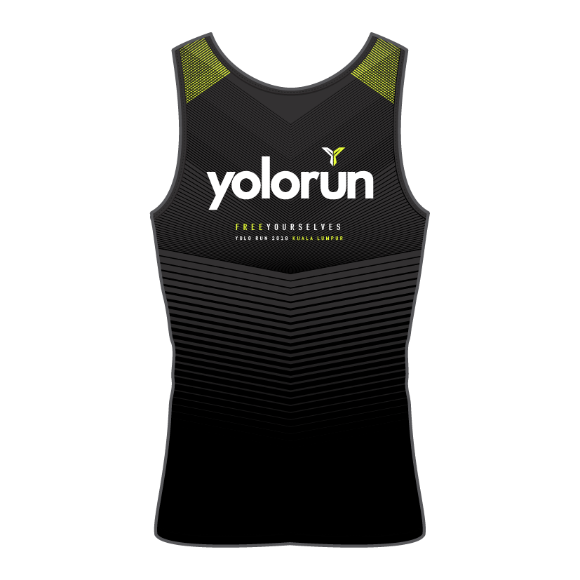 YOLO Run Singlet (Back)
