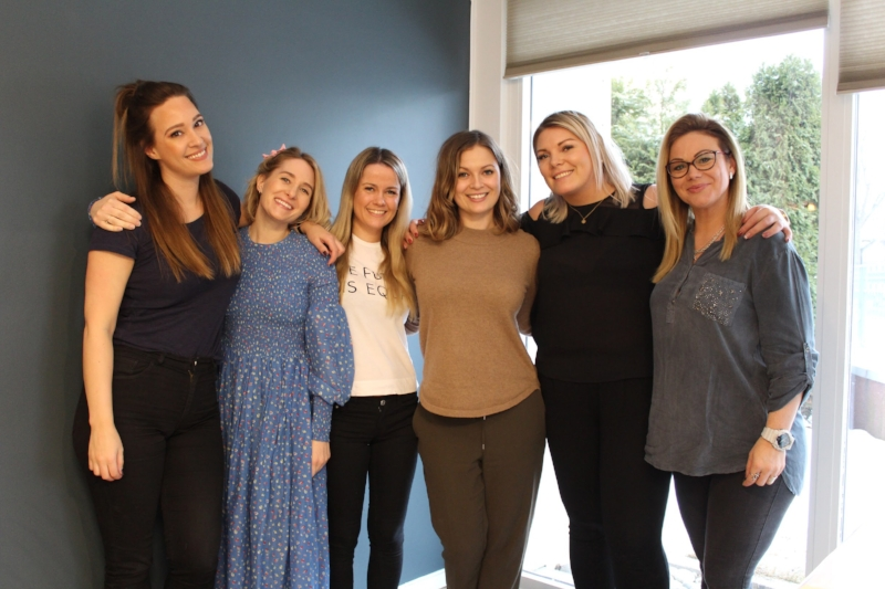 f.v:Lenita, Tina, Cathrine, Malene, Catrine og Maja