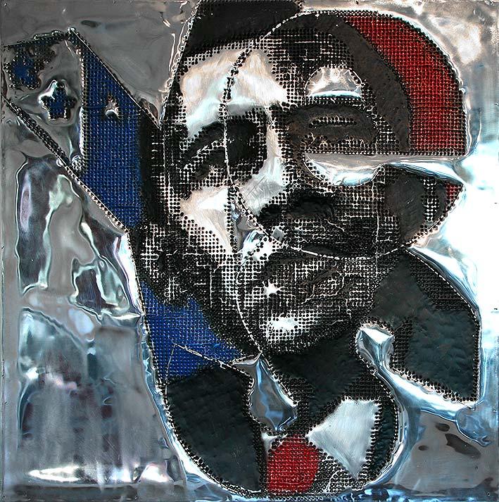 Yes  (2009) | tableau, aluminium | 100 x 100 cm | 1/1