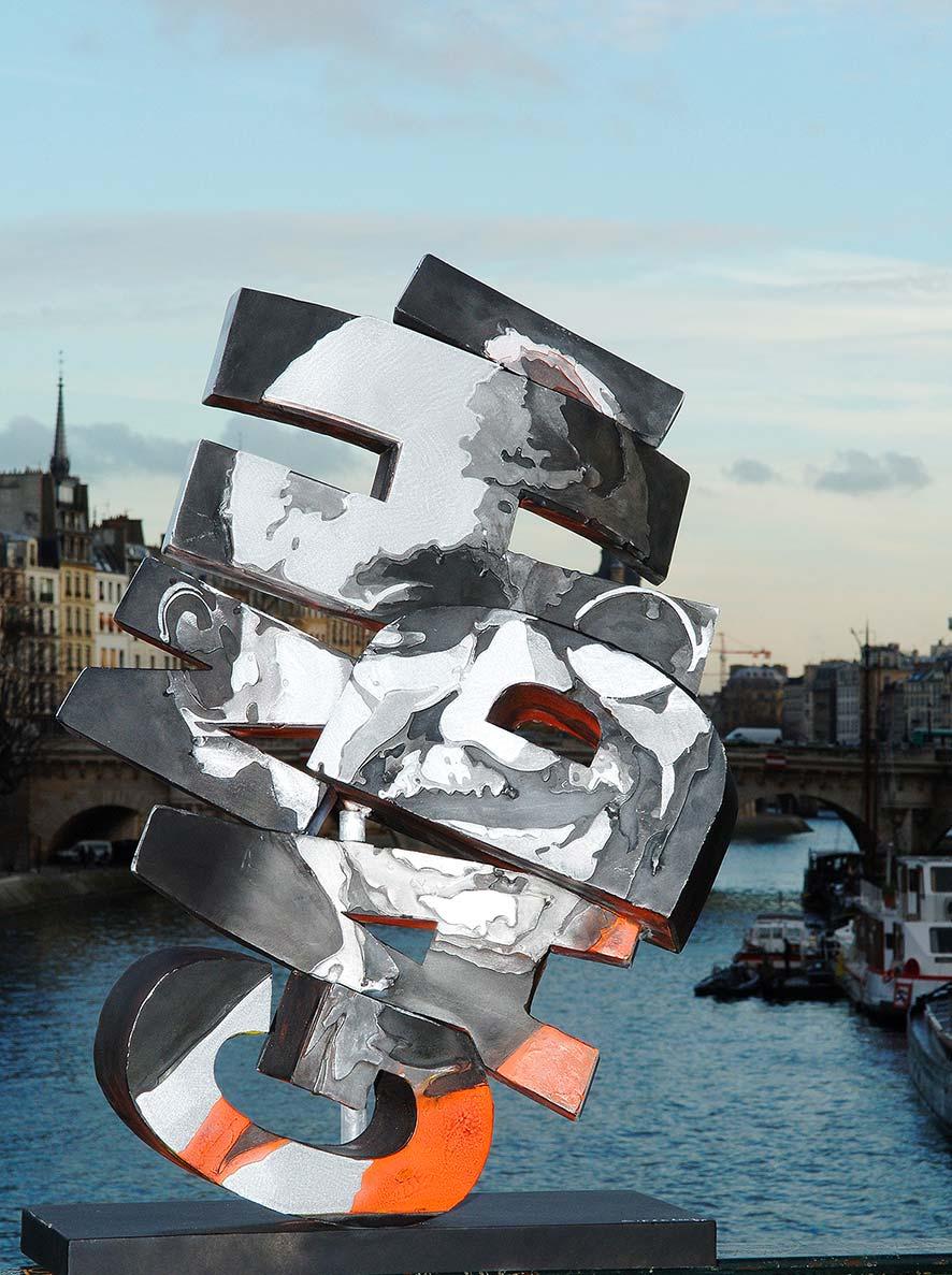 Gandhi  (2008) | aluminium | 70 x 45 x 20 cm | oeuvre originale