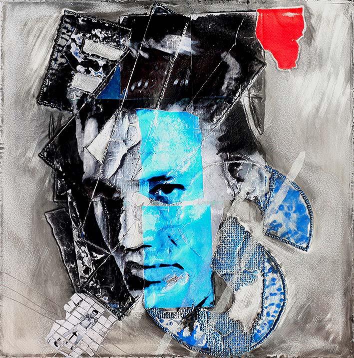 Elvis  (2009) | tableau, aluminium |100 x 100 cm | 1/1