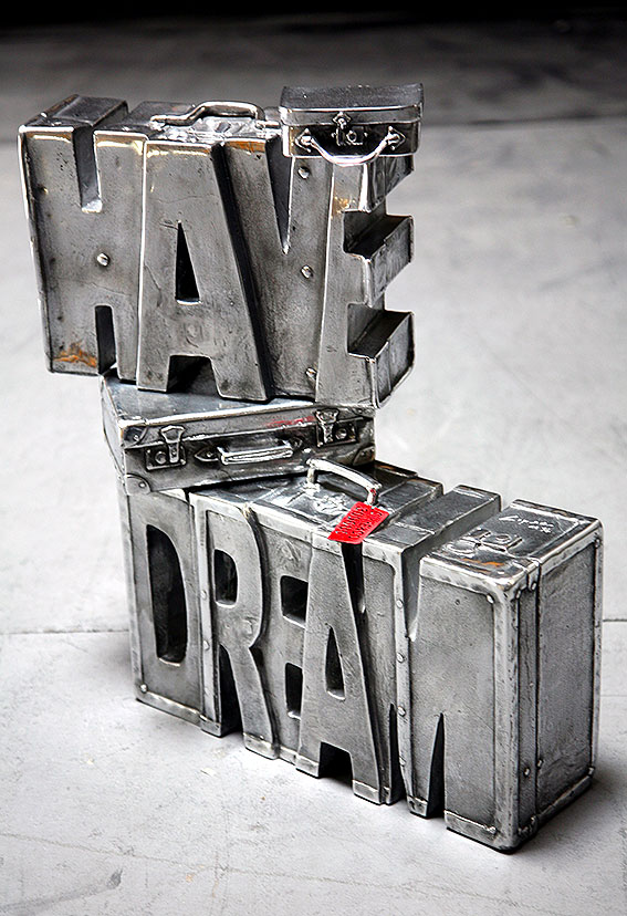 I Have A Dream  (2013) | aluminium | 55 x 50 x 30 cm | oeuvre originale