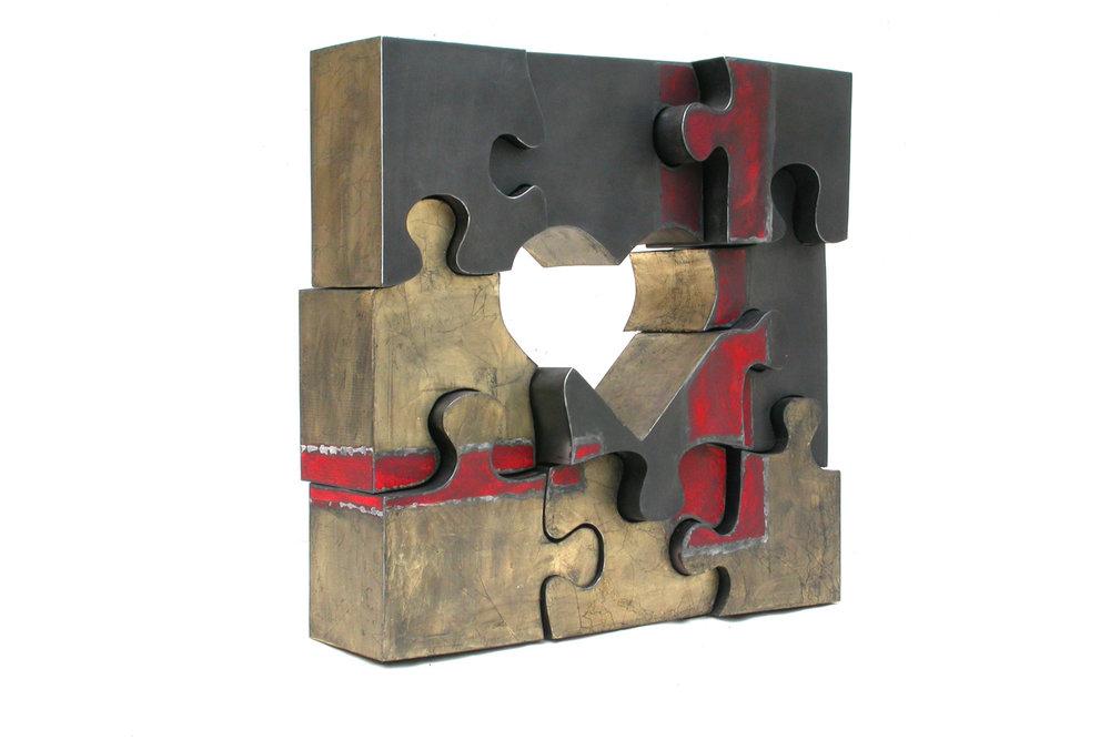 Puzzle  (2006) | aluminium | 60 x 60 x 10 cm | 1/1