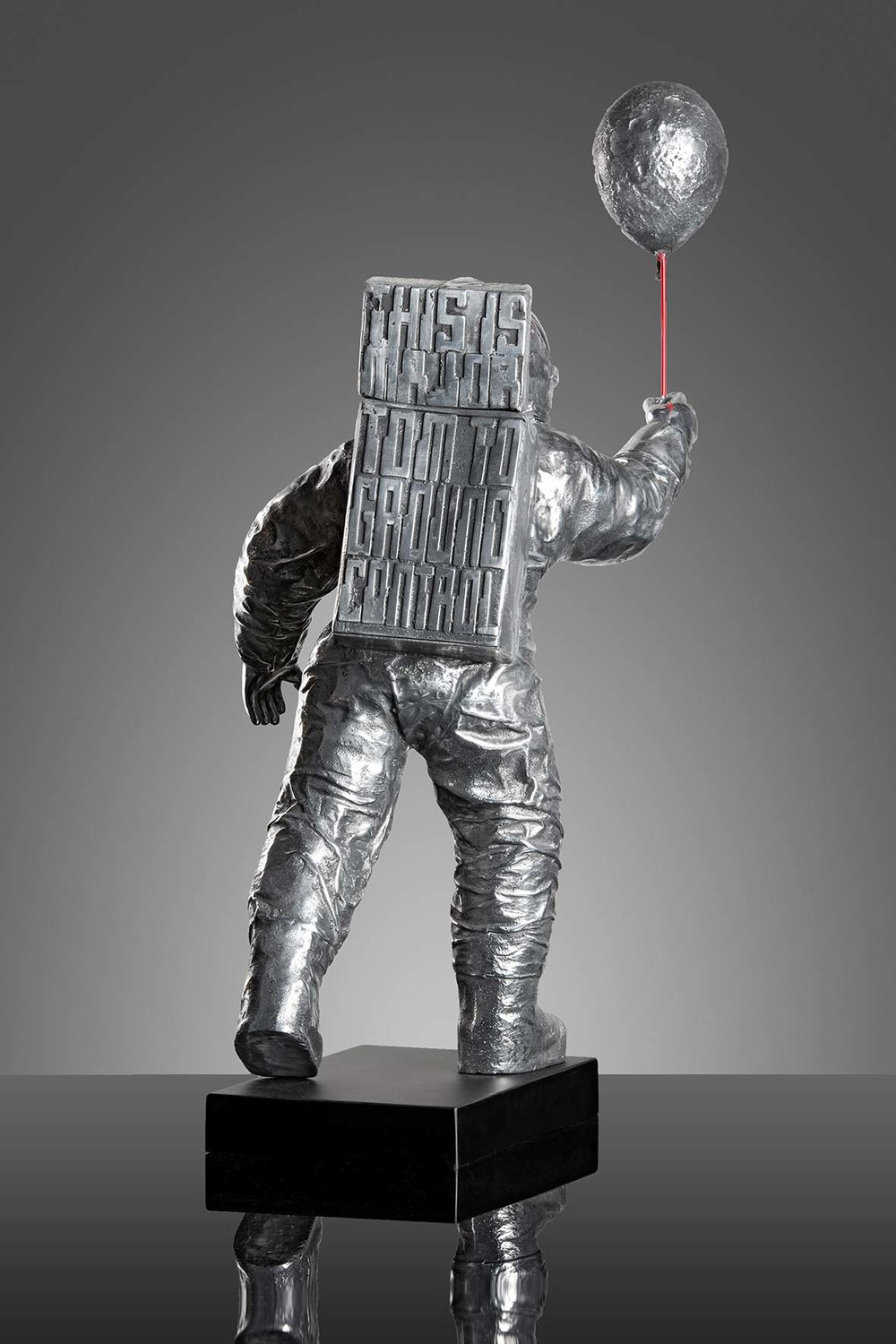 Major Tom  (2015) | aluminium | 80 x 25 x 37 cm |oeuvre originale | © Jean-René broyer