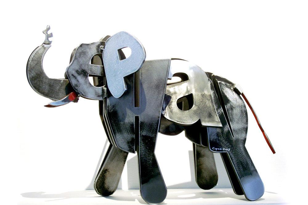 Éléphant  (2007) | aluminium | 50 x 30 x20 cm | 1/1