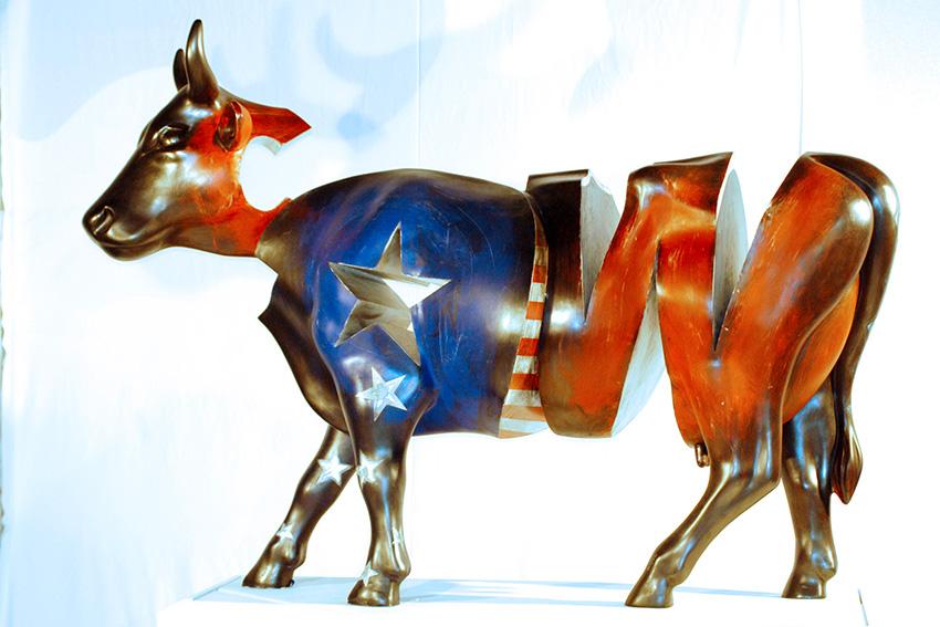 Cow  (2005) | résine, aluminium | 110 x 160 x 50 cm  l 1/1 |Cow Parade Monco