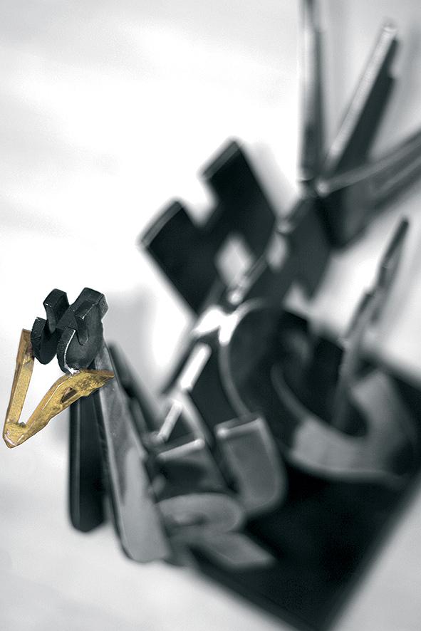 Autruche  (2007) | aluminium l 77 x 40 x 17 cm |oeuvre originale