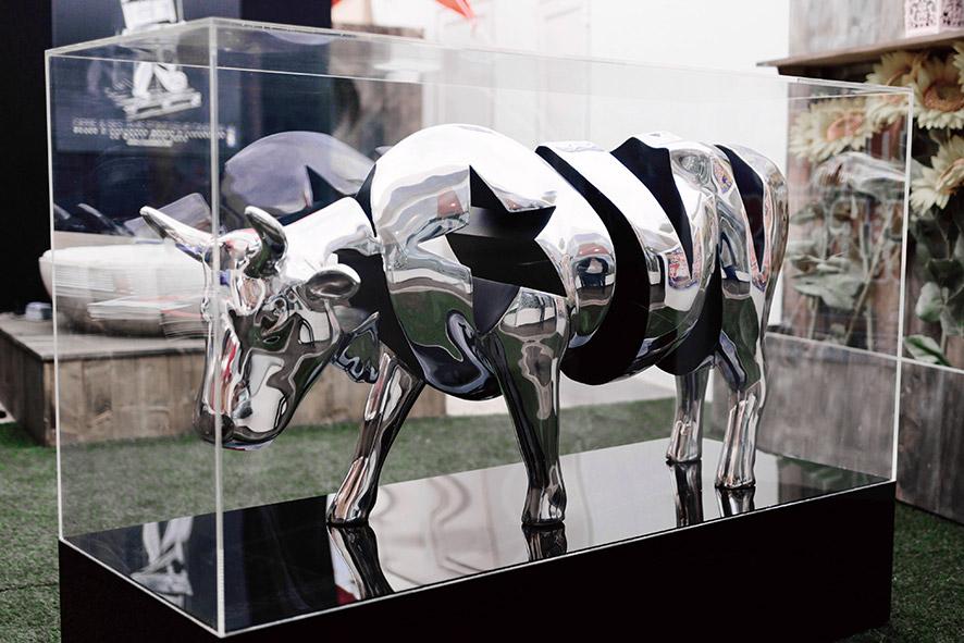 Cow  (2015) | aluminium | 71 x 130 x 40 cm | oeuvre originale