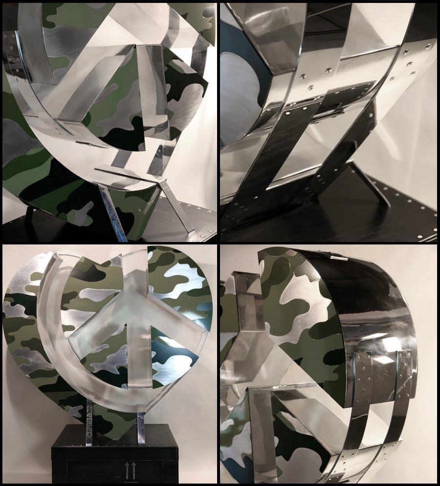 Camouflage (2012) | aluminium | 190 x 160 x 90 cm | 1/1