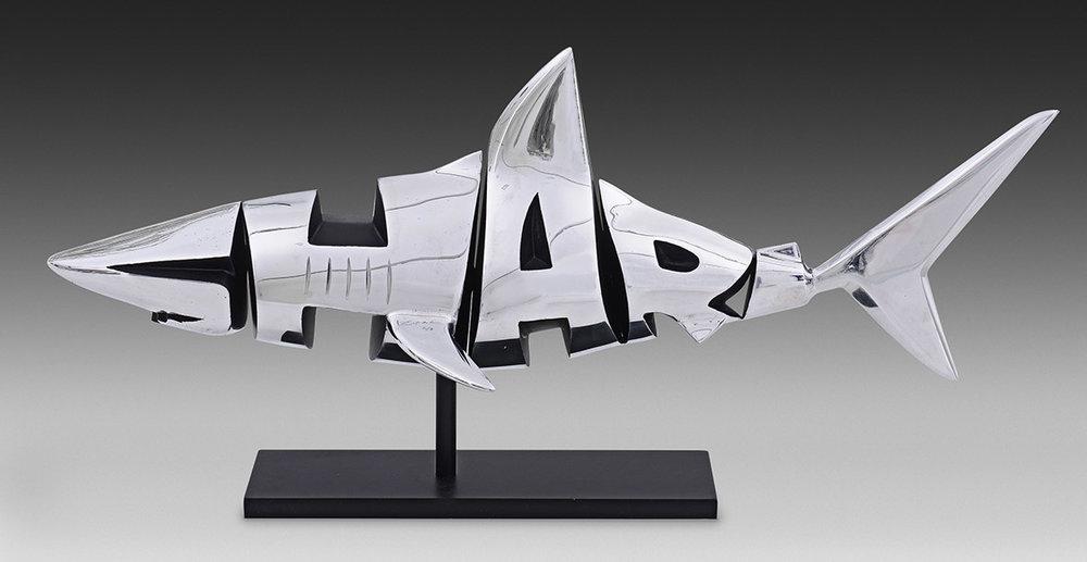 Shark  (2017) | aluminium | 46 x 90 x 35 cm | oeuvre originale