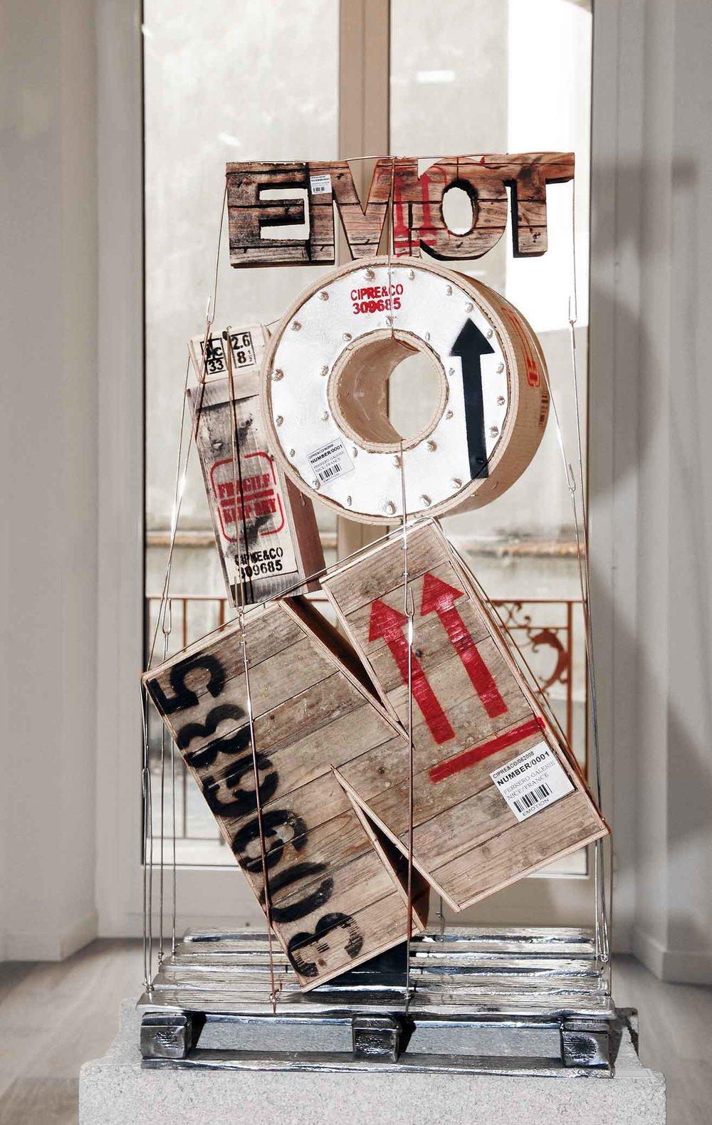 Émotion  (2010) | techniques mixtes | 80 x 40 x 27 cm | 1/1