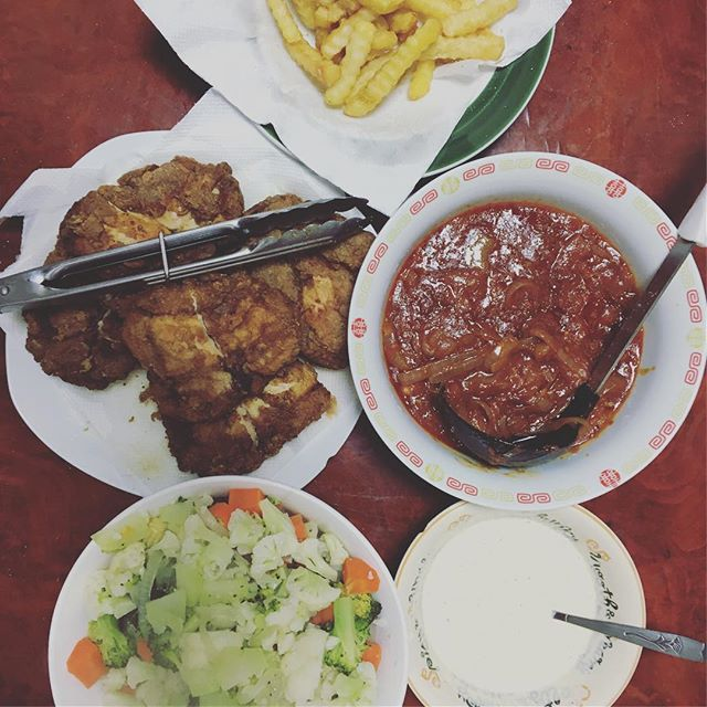 Hainanese chicken chop feast before 成人の日!
