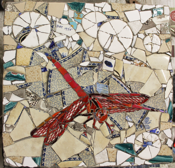 Picassiette & Mixed Media Mosaic made by Francesca Busca at Southbank Mosaics.