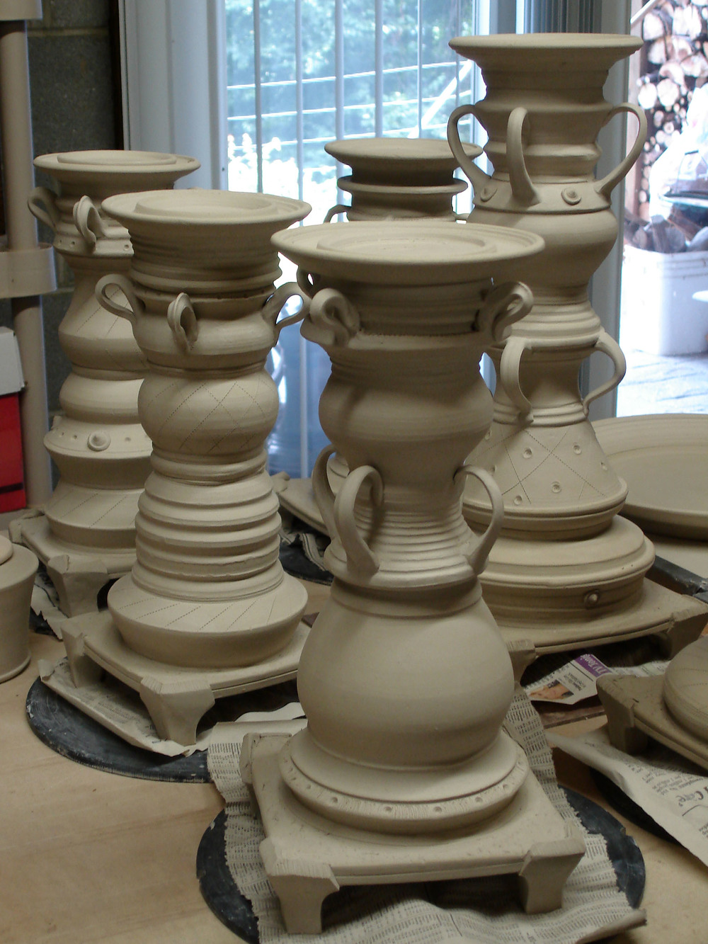 candle pedestals in process.jpg