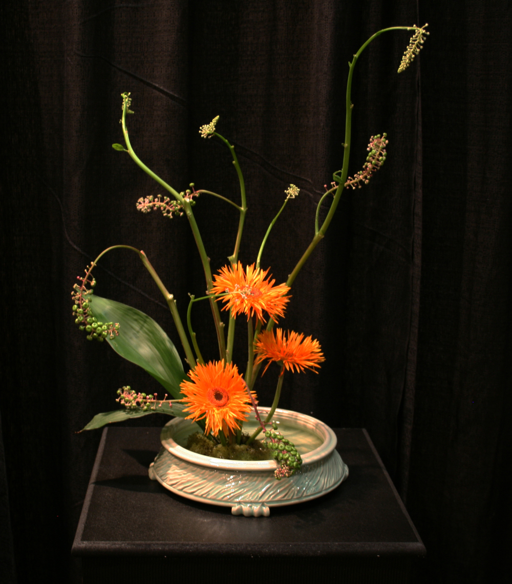 Container by Sue Grier, Flowers by Lucy Rouse