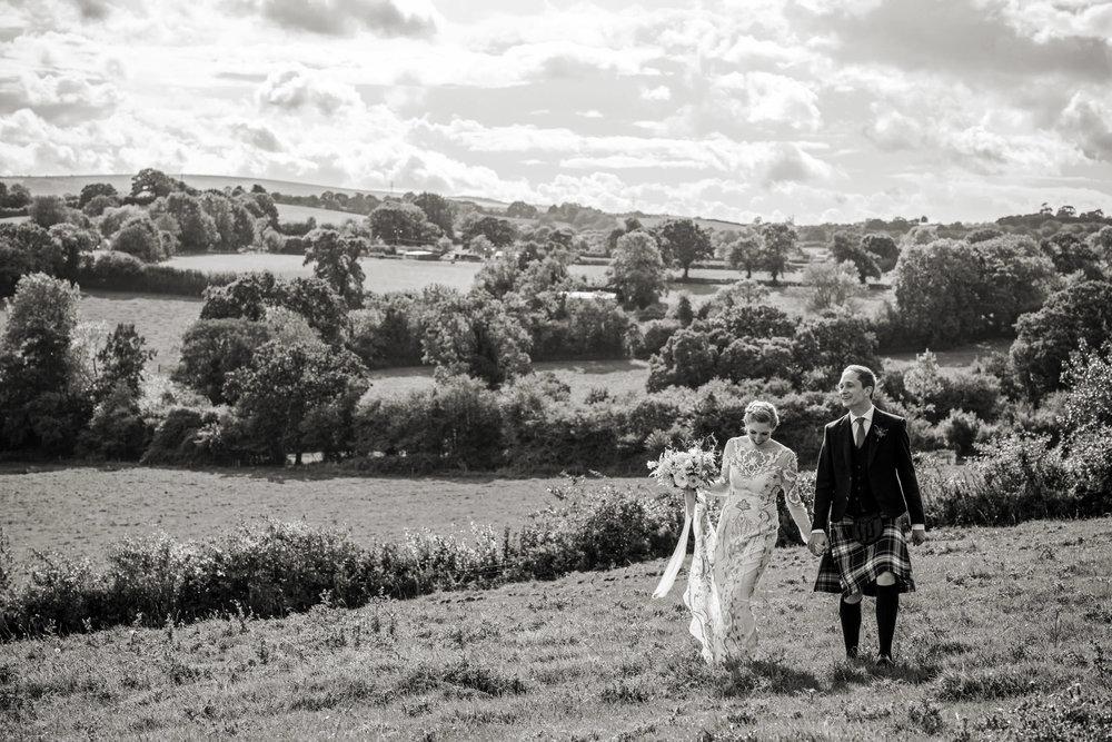 Somerset wedding photograph of bride and groom
