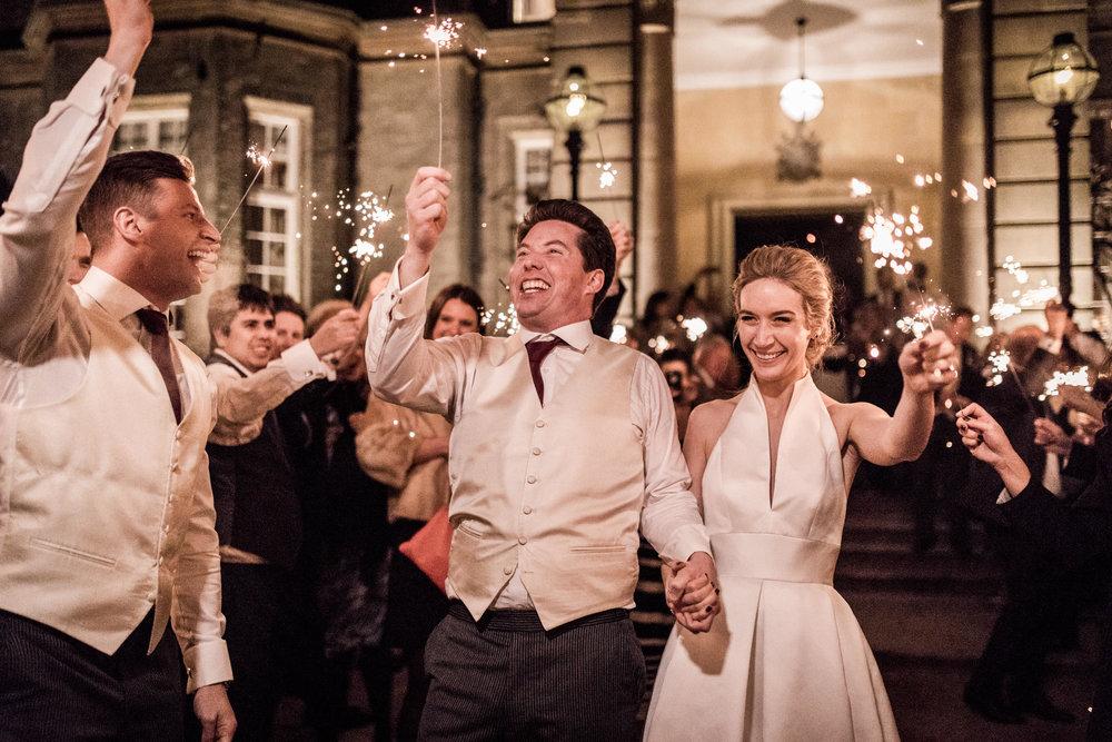 Hedsor House Wedding sparklers