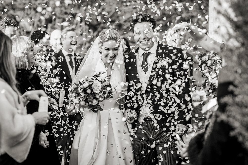 confetti tunnel at hedsor house