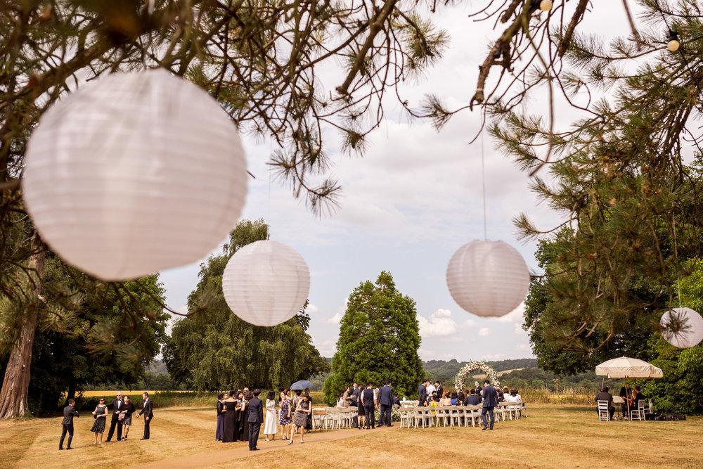 Babington House outdoor Wedding ceremony