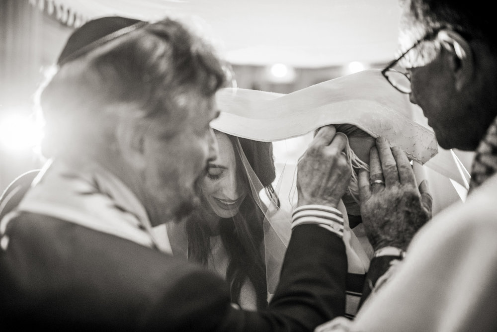 Natural Jewish Wedding Ceremony Photograph
