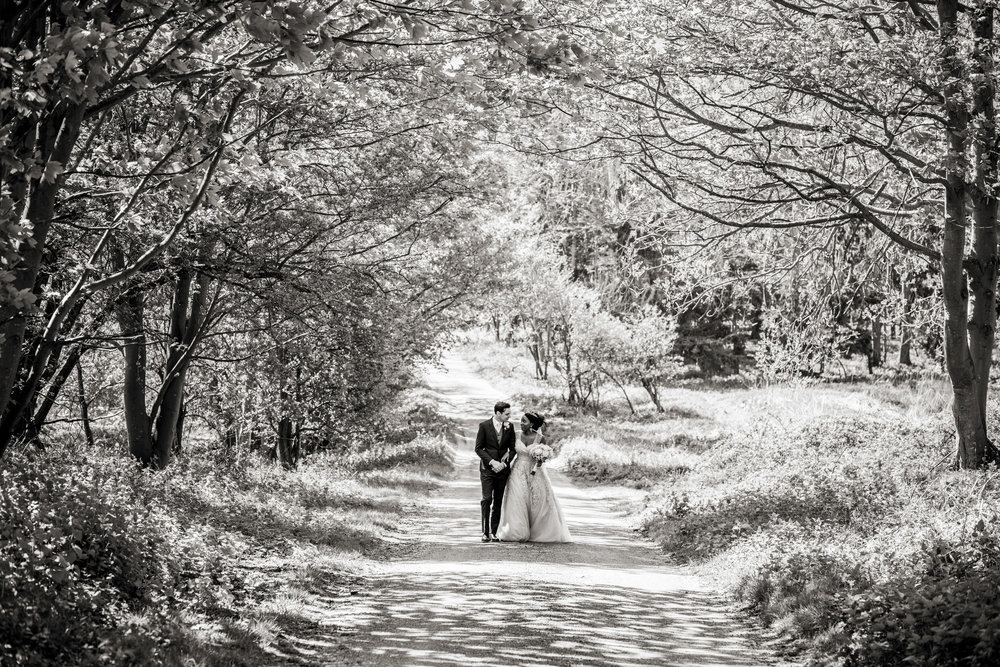 butley priory wedding portrait