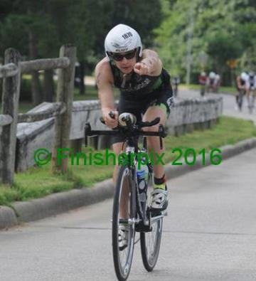 Having fun on the bike  Credit: Finisherpix