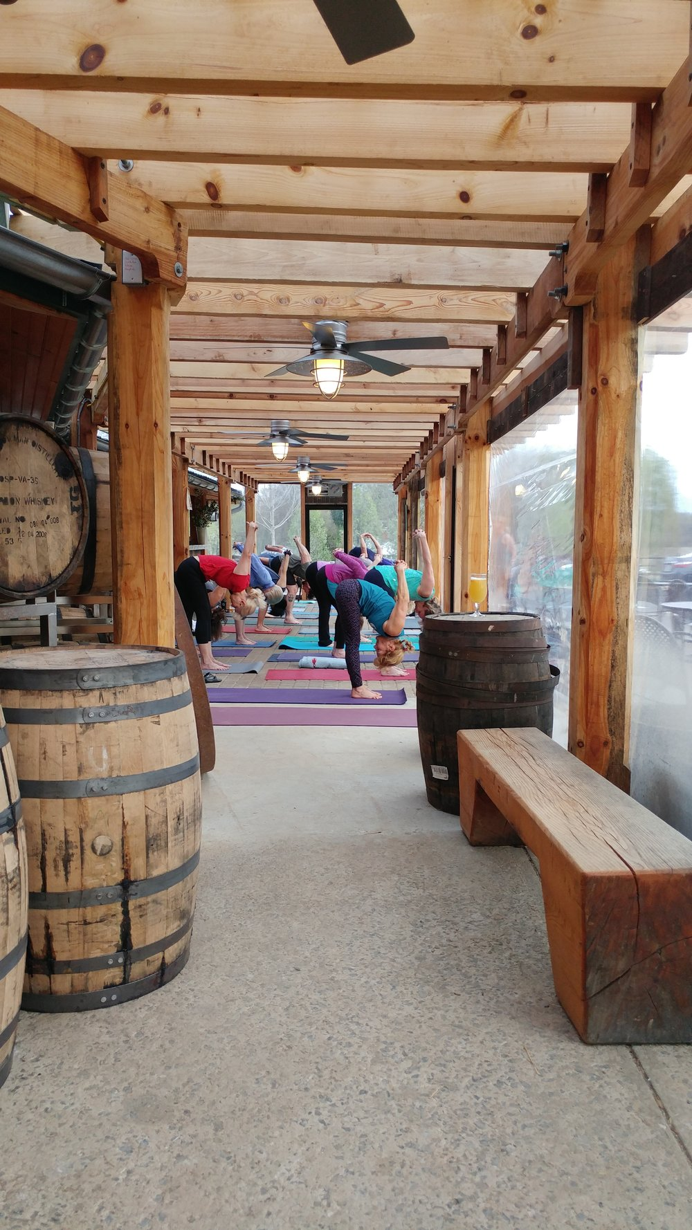Yoga On Tap at The Brookeville Beer Farm