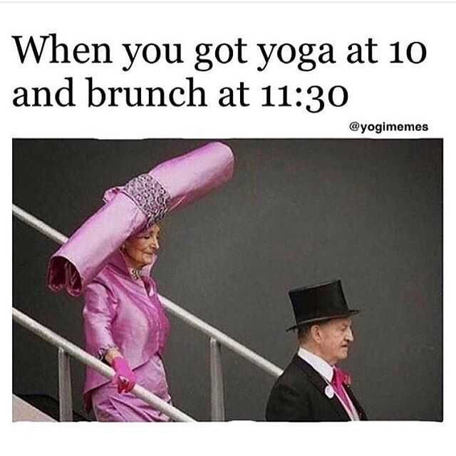 Happy Saturday, yogis! May you always be just one hat tip away from a beautiful practice 🤣✨Have a great weekend ✨ @yogimemes #yoga #yogaeveryday #yogaeverywhere #yogamemes #weekendyoga #weekendvibes #yogalife #yogalifestyle